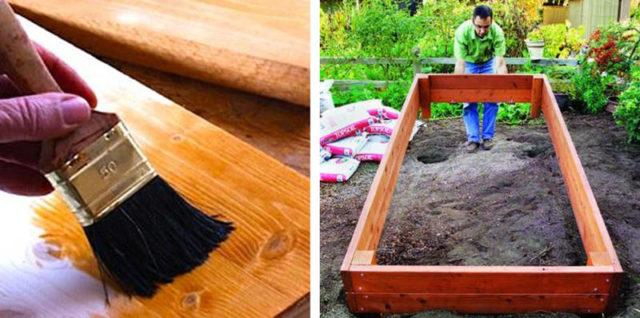 Чем обработать доски для грядок от гниения: простые и эффективные способы