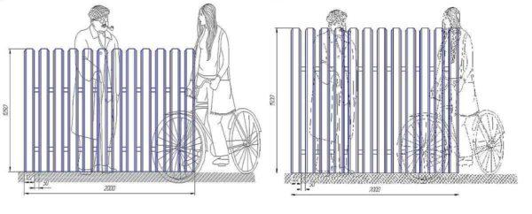 Палисадник из металлического штакетника своими руками: инструкция + лучшие варианты