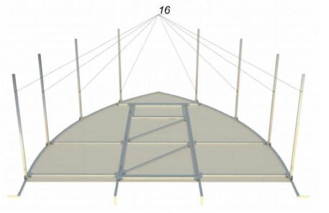 Теплица Капля из поликарбоната: как собрать идеальную и прочную конструкцию