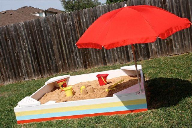 Как сделать песочницу на даче своими руками: лучшие идеи с чертежами и фото