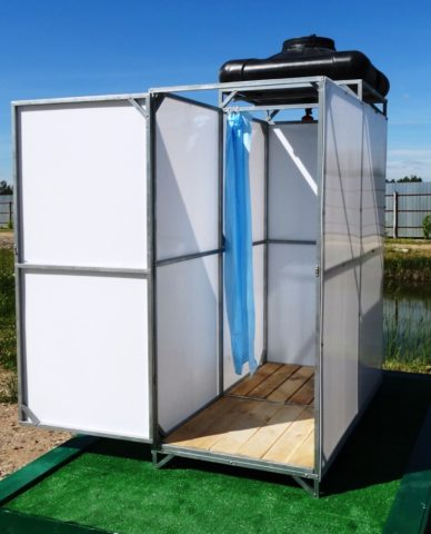 Летний душ для дачи с подогревом: как сделать своими руками + отзывы дачников