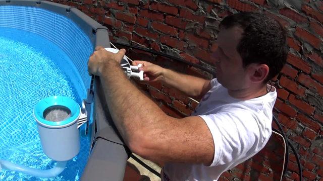 Навесной скиммер для бассейна: для чего нужен и как работает + как сделать своими руками