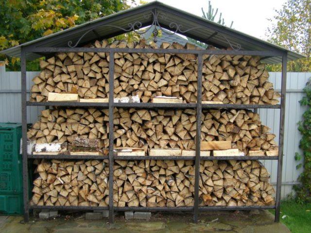 Поленница для дров: фото + как сделать своими руками