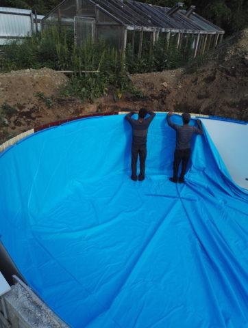 Строительство бетонного бассейна на даче: пошаговая инструкция   видео