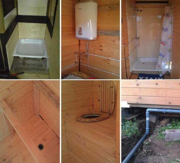 Хозблок для дачи с душем и туалетом: изготовление своими руками + фото