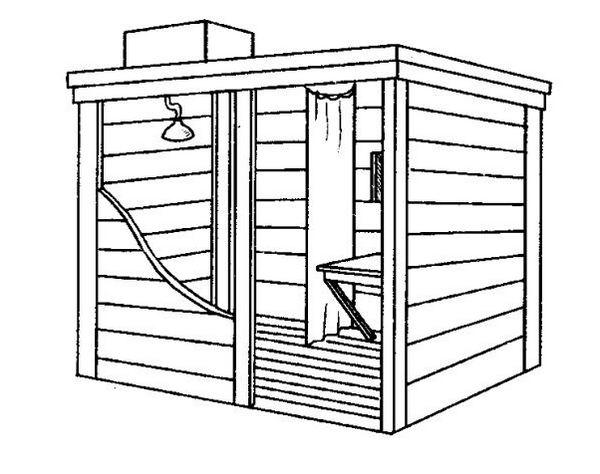 Деревянный душ для дачи своими руками: как сделать + фото