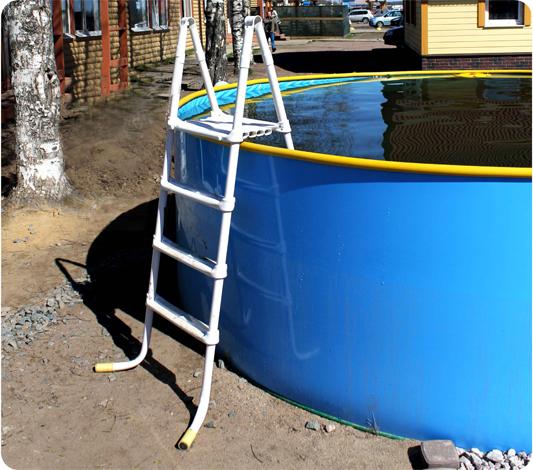 Лестница для бассейна из ПВХ труб: пошаговая инструкция по изготовлению