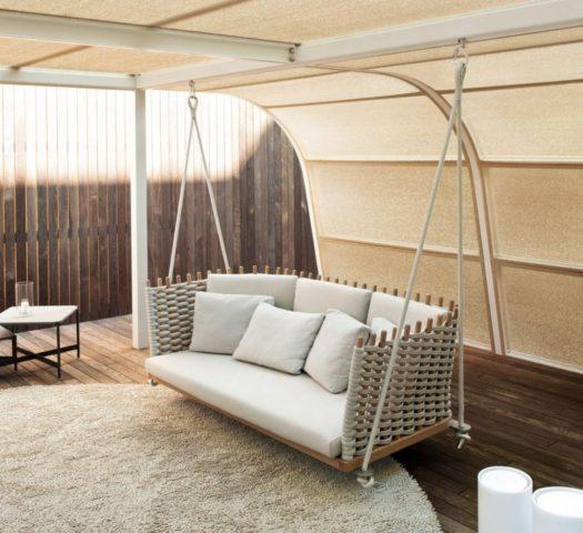 Качели-диван: с навесом, из металла и дерева, инструкция по созданию с фото и размерами