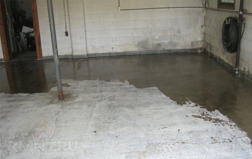 Чем застелить пол в гараже