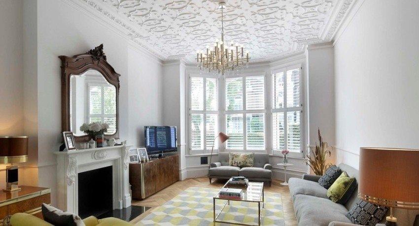Особенности оформления потолка