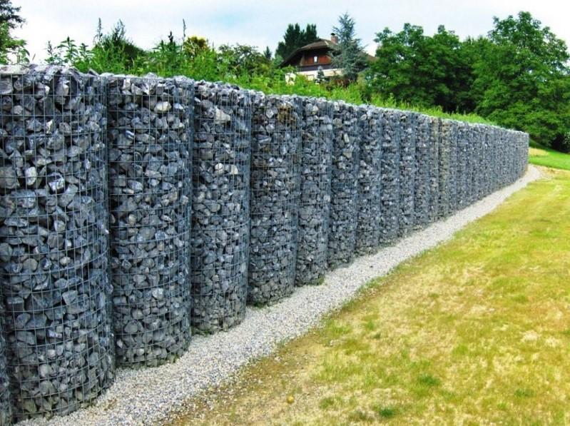 Забор из габионов: необходимые материалы, подготовка и монтаж