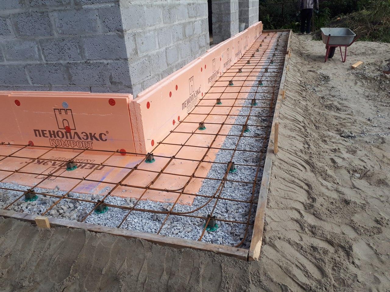 как утеплить бетонный фундамент дома
