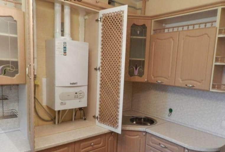 Как спрятать газовую колонку и водонагреватель?