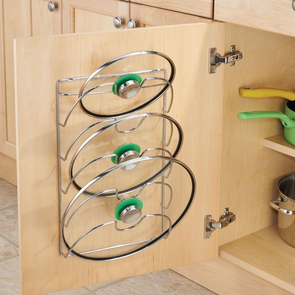 Идеи для хранения крышек от сковородки и кастрюль