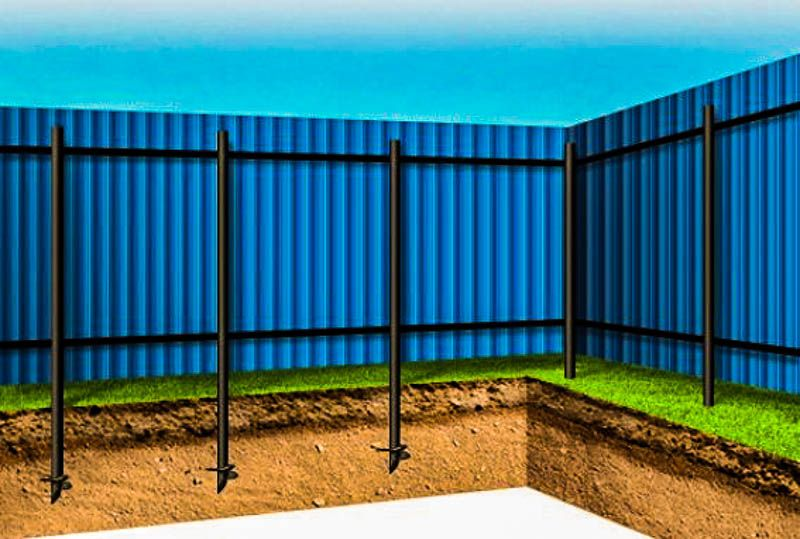 Забор на сваях: система установки, категории материала