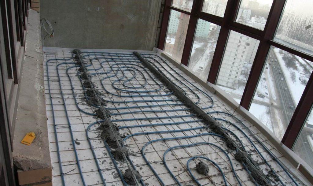 Теплый пол на балконе своими руками