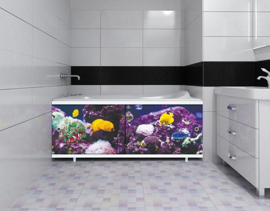 Разновидности раздвижных экранов под ванну
