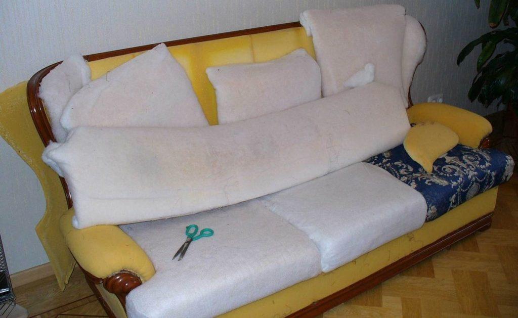Обшивка кожаной мягкой мебели своими руками