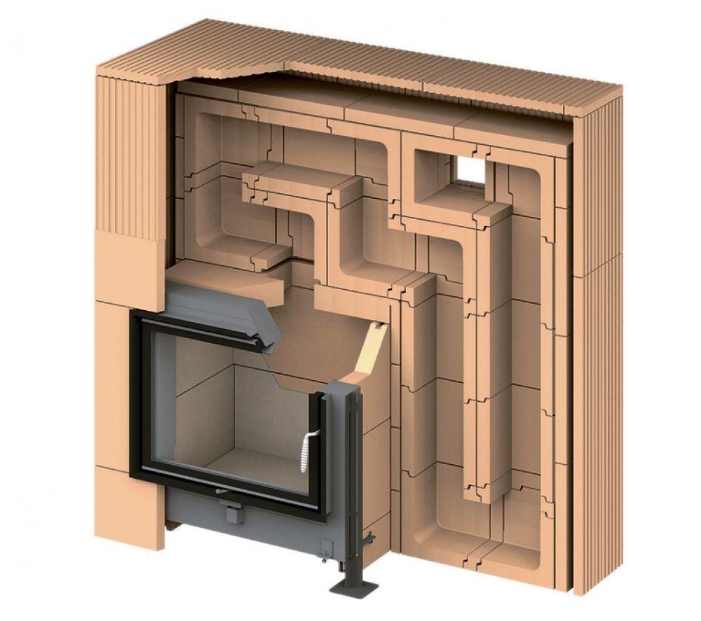 Отопление двухэтажного дома одним камином: как такое возможно
