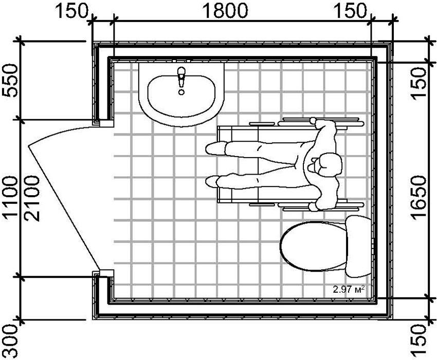 Размеры санузла: особенности и норма