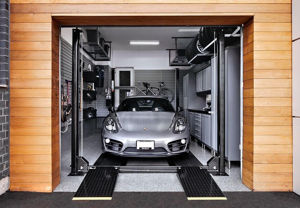 Внутреннее убранство гаража должно быть удобным и привлекательным