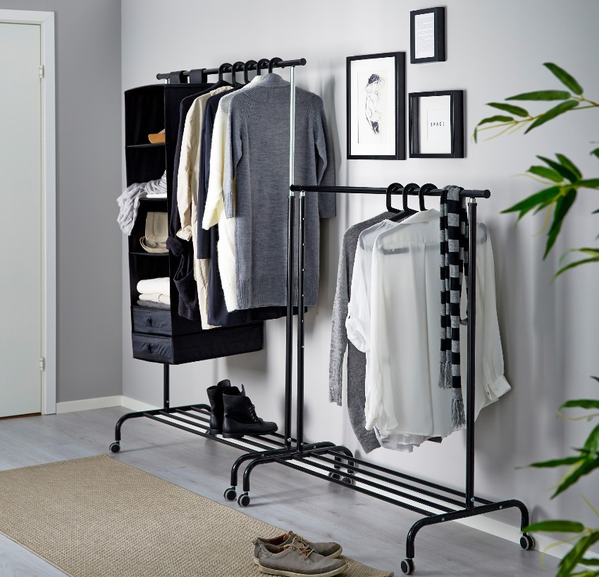 Выбор вешалки для гардероба
