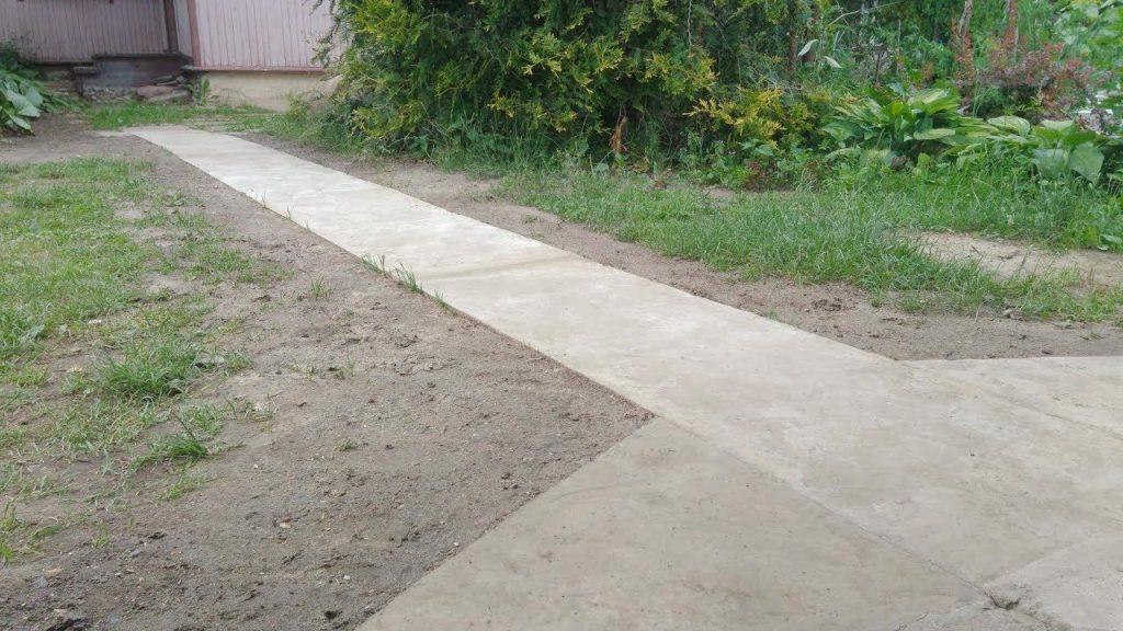 Как своими руками сделать цементную садовую дорожку
