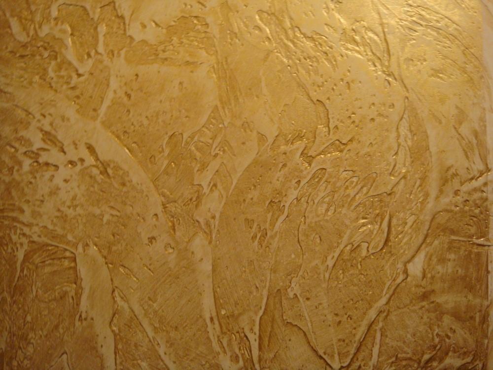 Венецианская фактурная штукатурка из остатков гипсовых смесей
