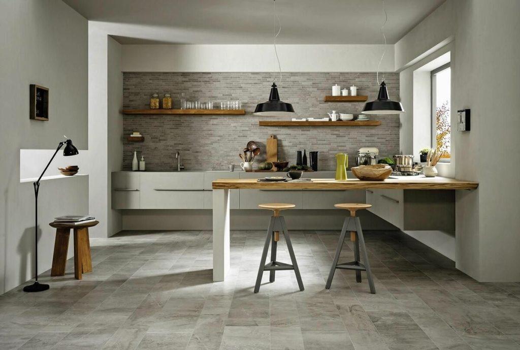 Какая плитка лучше всего подойдёт для кухонного пола