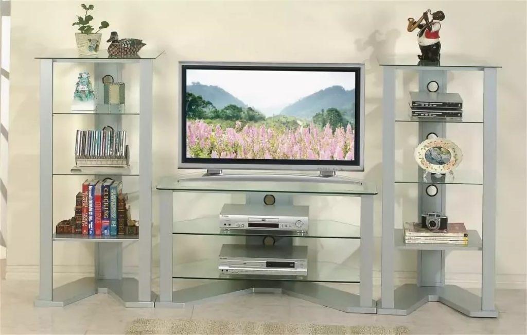 Установка стеллажа под телевизор