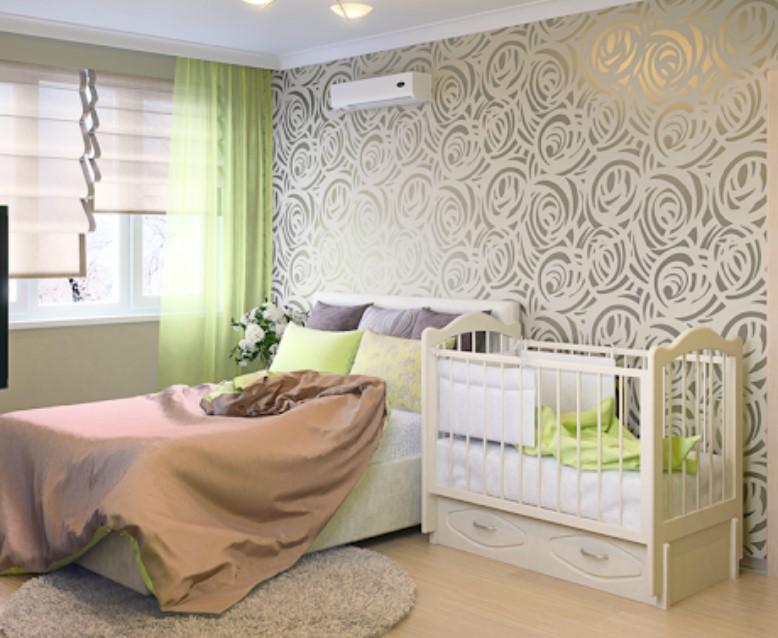 Спальня родителей и детская в одной комнате