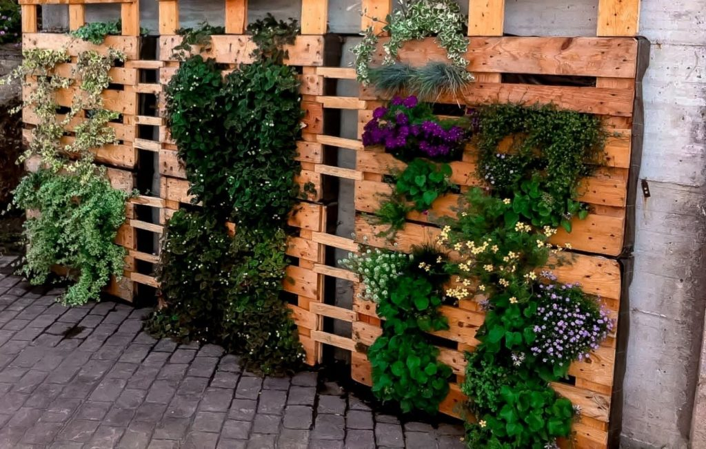 Вертикальные клумбы - необычное и компактноеукрашение сада
