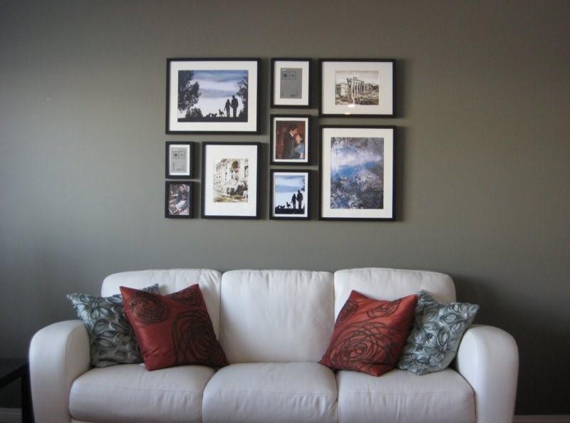 Как оригинально повесить фотографии на стену