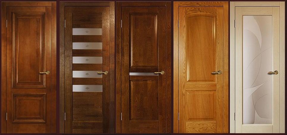 Виды и особенности дверей из массива