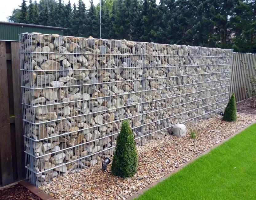 «Камни в клетке» в ландшафтном дизайне