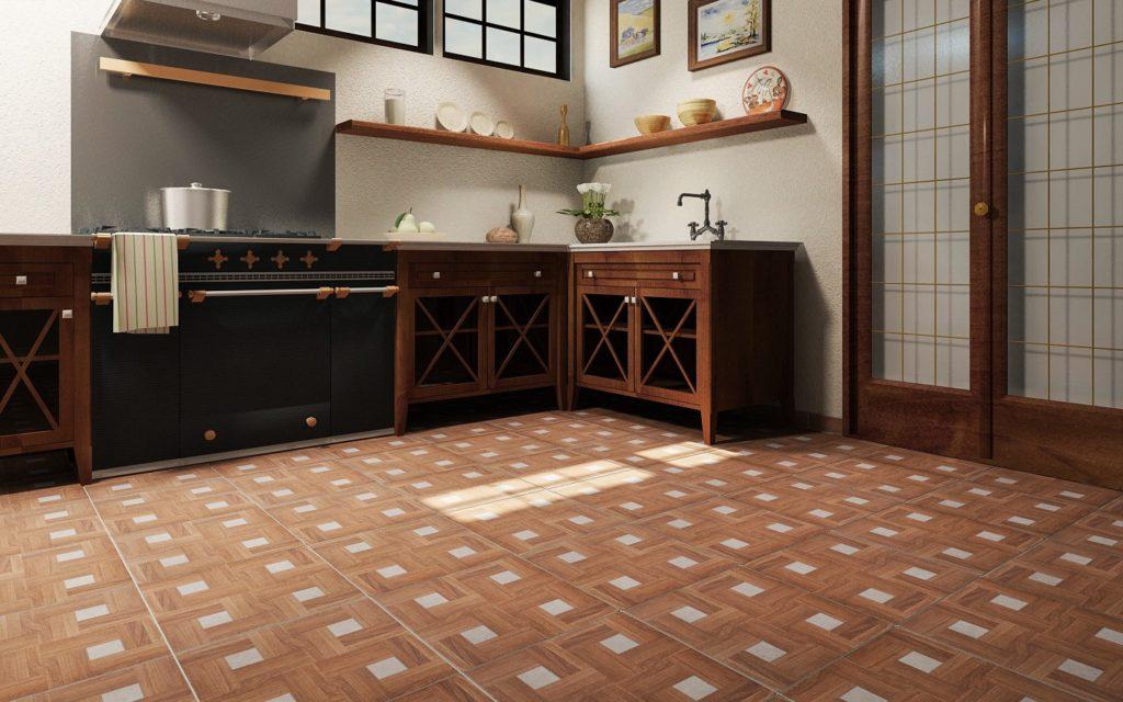 Керамическая плитка – лучшее напольное покрытие для кухонь и прихожих
