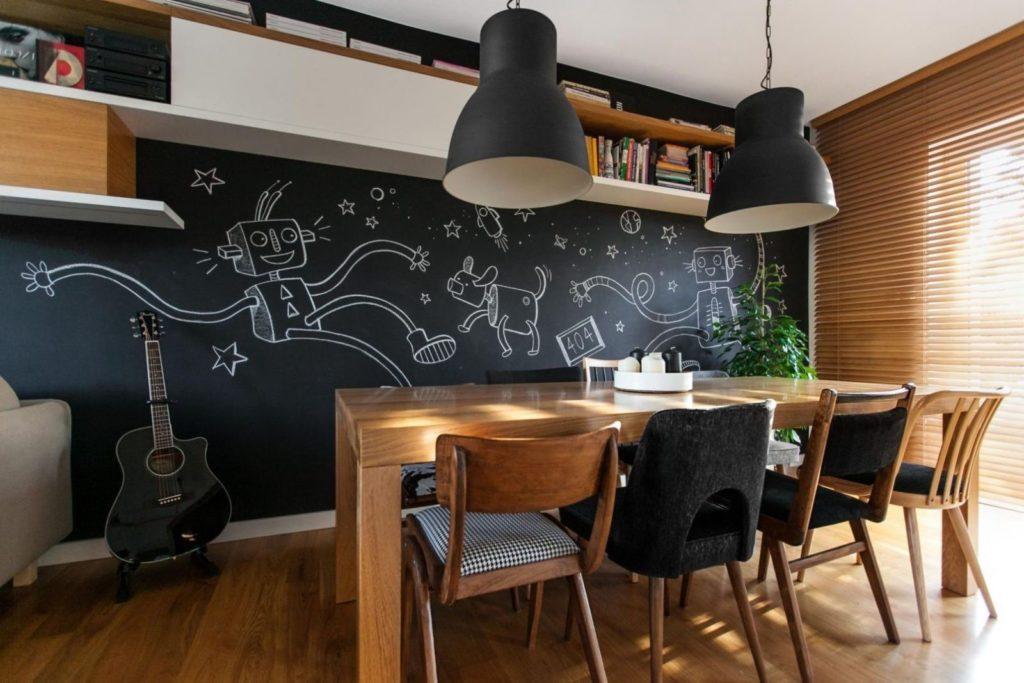 Создание креативного пространства с помощью меловой краски