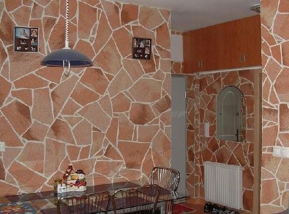 Как оформить интерьер с применением гибкого камня