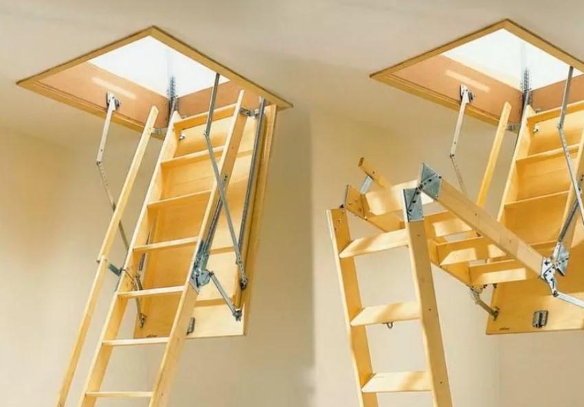 Как выбрать раскладную лестницу на чердак