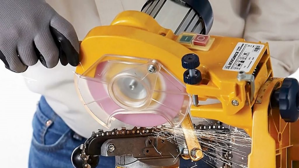 Как восстановить остроту бензопилы с помощью напильников и специальных заточных станков