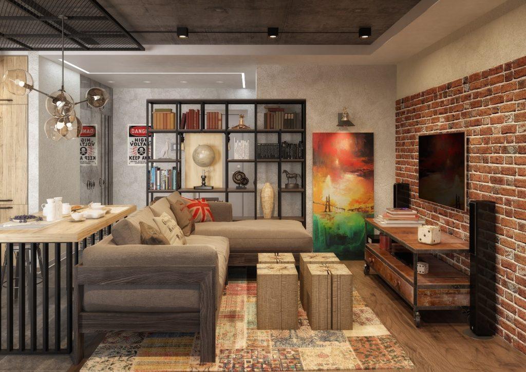 Создание интерьера в стиле лофт в обычной городской квартире