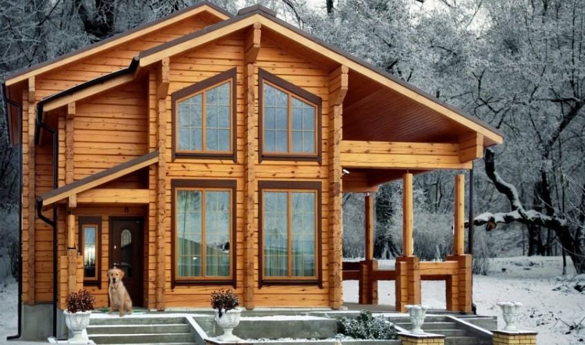 Что собой представляет лафет в деревянном домостроении